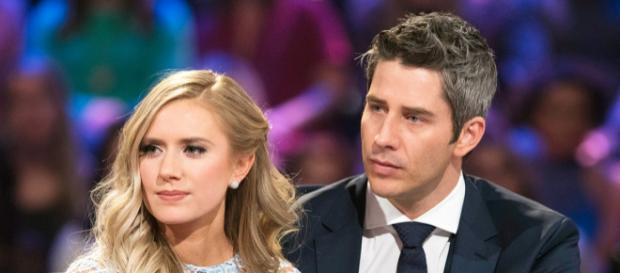 Arie and Lauren learned the hard way that jokes about pregnancy aren't funny. [Image via ABC]