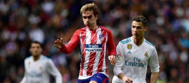 Griezmann e Cristiano Ronaldo foram as estrelas do encontro