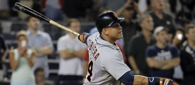 Miguel Cabrera is swinging a hot bat for the Detroit Tigers. [Image credit The Boys/YouTube]