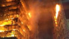 Ex-BBB 18 registra em primeira mão fotos inéditas do incêndio de prédio em SP