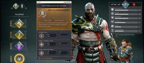 A screenshot from 'God of War' - YouTube/Uzi Game GP