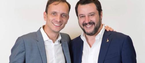 Massimiliano Fedriga, nuovo presidente della Regione Friuli, insieme a Matteo Salvini