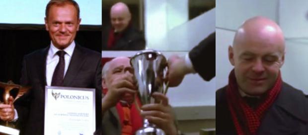 Donaldowi Tuskowi za zajęcie pierwszego miejsca (foto: youtube.com)