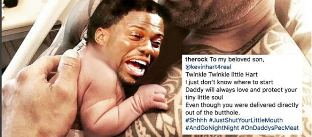 Dwayne 'The Rock' Johnson trolls Kevin Hart in epic Instagram post. [image source: Instagram]