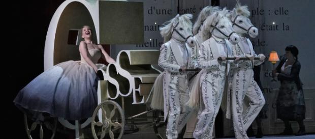 Off to the ball! Joyce DiDonato in the title role of Massenet's 'Cendrillon.' - [Photo: Ken Howard, Metropolitan Opera, used with permission.]