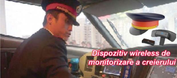 Sub cascheta acestui mecanic de tren de mare viteză se ascunde un dispozitiv de monitorizare a creierului - Foto: www.scmp.com