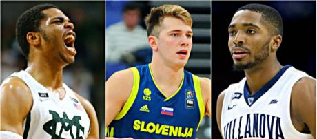 Miles Bridges, Luka Doncic, and Mikal Bridges are on the Knicks' draft radar – image credit: TYT, Hoopshype/YouTube