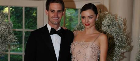 Miranda Kerr y Evan Spiegel esperan su primer hijo