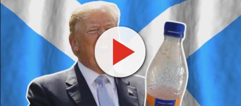 Donald Trump has upset Scotland by banning Irn-Bru at his Ayrshire golf resort. [Image ICYMI/YouTube]