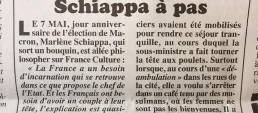 C'est le Canard Enchaîné qui révèle cette information : Marlène Schiappa interidte de café à Trappes, car les femmes n'y sont pas les bienvenues