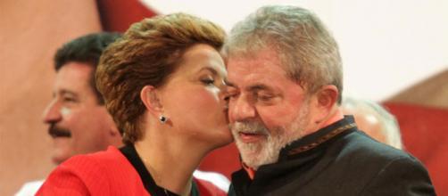 Ex-presidente Dilma Rousseff e ex-presidente Lula