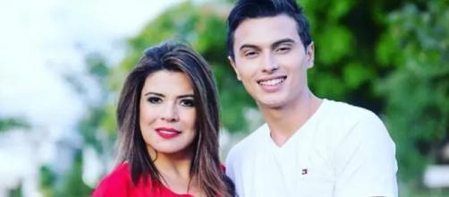 Mara Maravilha e noivo Gabriel Torres