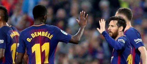 Ousmane Dembélé fez um grande jogo contra o Villareal
