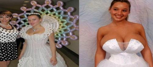 Vestidos de noiva bem engraçados e sem noção