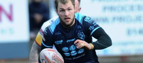 Luke Briscoe made history against Hull FC, but the game will sadly be remembered for other reasons. Image Source - newsoneplace.com