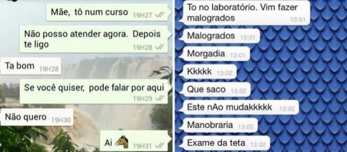Conversas engraçadas de mães no WhatsApp. Fotos: Reprodução.
