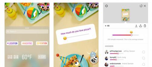 Il nuovo sondaggio di Instagram con le emoji.