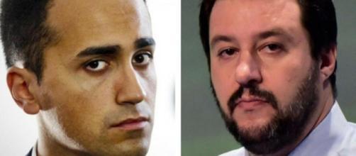 Luigi Di Maio, 'capo politico' pentastellato (sx); Matteo Salvini, segretario federale della Lega (dx) - blastingnews.com