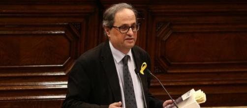 Quim Torra en el Parlament de Cataluña. Public Domain.