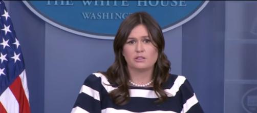Sarah Huckabee Sanders at the White House, via Twitter