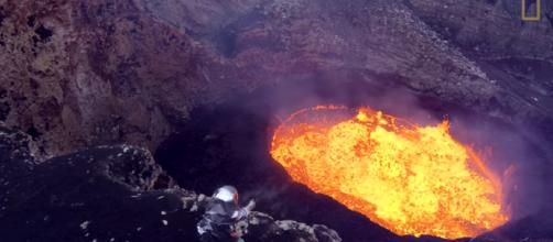 Volcano in Hawaii can threaten land as far away as America's west coast. [image source: Nation Geographic - YouTube]