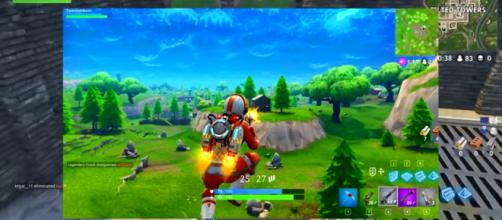 A screenshot of the Jetpack in 'Fortnite.' Image credit - Exility | YouTube