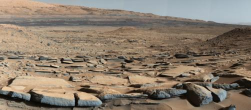 "A view from the ""Kimberley"" formation on Mars taken by NASA's Curiosity rover [Image credit - NASA/JPL-Caltech/MSSS, Wikimedia Commons]"