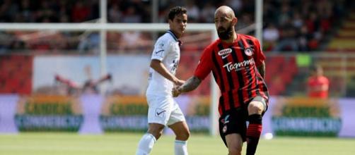 Nella foto della Lega B, il match winner Fabio Mazzeo