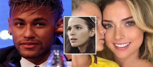 Neymar comenta foto de ex-namorada