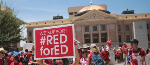 Teachers protesting at the state capitol. - [Image from Gage Skidmore via Flikr]