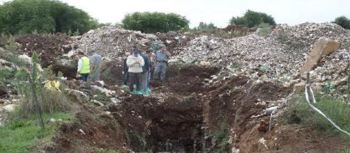 Un'immagine della discarica di Calvi Risorta (CE)