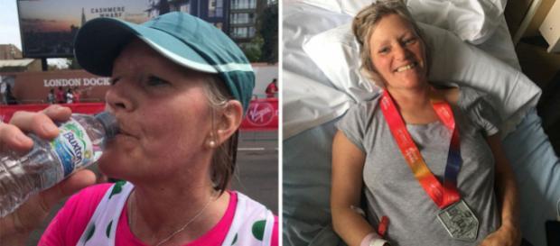 Johanna Pakenham quase morreu após beber muita água durante uma maratona