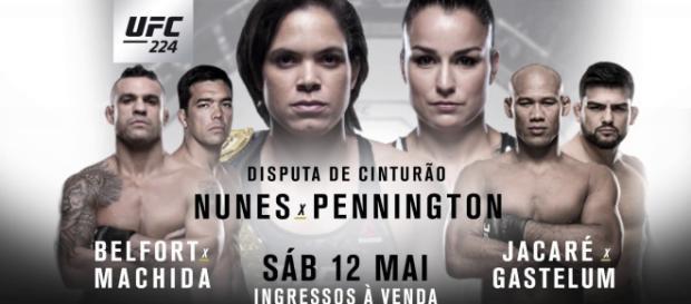 UFC 224 ao vivo neste sábado (12). (foto reprodução).