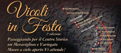 """La locandina dell'evento """"Vicoli in Festa"""", Adrano domenica 20 maggio ore 10-22"""