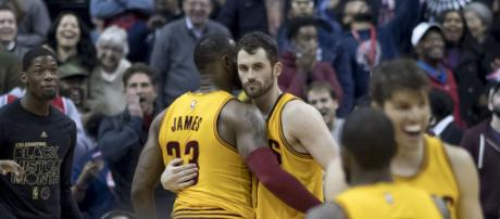 LeBron James and Kevin Love will be key players for the Cavs' quest to reach their fourth NBA Finals (Photo by Keith Allison via Flickr)