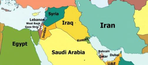 Carte du Proche et du Moyen Orient