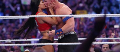 Nikki Bella still 'spending nights' with John Cena at his place ... image credit- aol.com