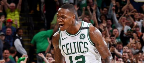 Terry Rozier and the Celtics host LeBron James and the Cavs in Game 1 of the Eastern Conference Finals Sunday. [Image source: NBA/YouTube]