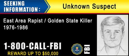 Family poses theory that the Golden State Killer was influenced by the rape of his young sister. [Image source: FBI - Wikimedia Commons]
