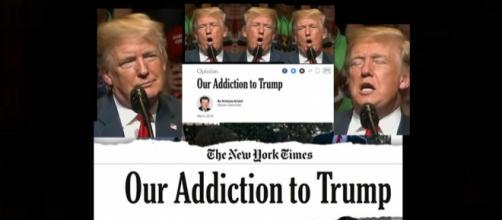 The Trump addiction is taking over. Photos: CNN/YouTube Screenshots