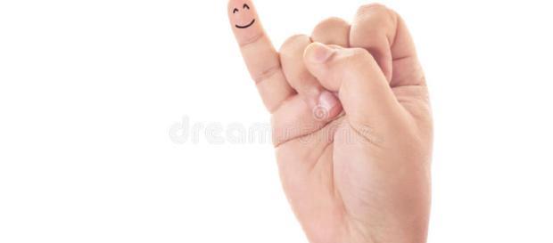 Dedo meñique de la sonrisa imagen de archivo. Imagen de muestra - dreamstime.com