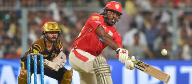 IPL 2018: Chris Gayle leaves Kings XI Punjab singing in the rain (Image via IPL2018/Twitter)