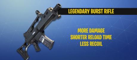 "Legendary burst rifle coming to ""Fortnite Battle Royale."" Image Credit: Own work"