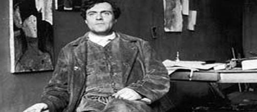 Amedeo Modigliani in his studio -- Wikipedia Commons