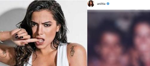 Anitta aparece ao lado da mãe em foto da infância