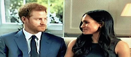 I futuri sposi, il principe Harry e Meghan Markle - foto Tv -