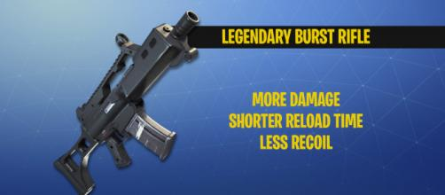"Legendary burst rifle coming to ""Fortnite Battle Royale."" Image Credit: Own work"