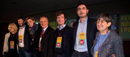 Pietro Grasso e alcuni dirigenti di LeU (Foto: Profilo FB ufficiale di Liberi e Uguali)