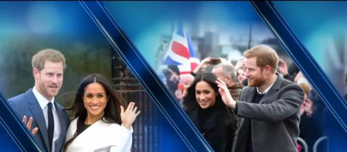 Prince Harry and Meghan Markle wave to English crowds. CBS News/YouTube