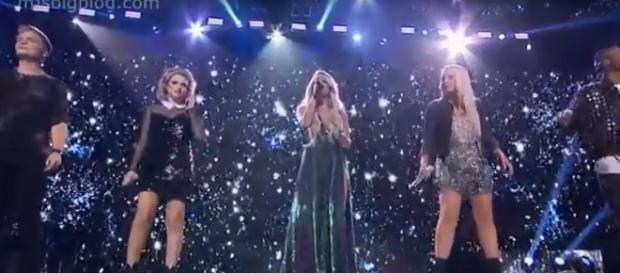 'American Idol' 2018 opened with Carrie Underwood and the top five singing 'See You Again.' - [MJSBigBlog / YouTube screencap]